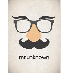 Disguise glasses vector