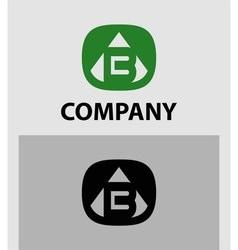 B letter logo icon design template element vector