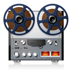 Analog stereo reel to reel tape deck vector