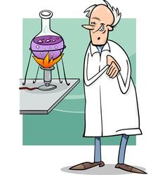 Scientist in laboratory cartoon vector