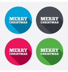 Merry christmas text sign icon present symbol vector