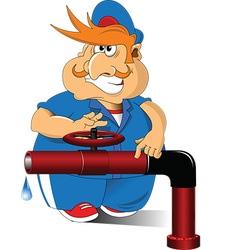Cartoon plumber vector
