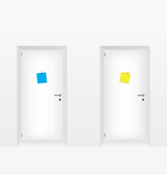 White doors vector
