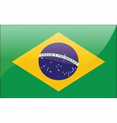 Brazil flag vector