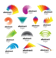 Collection of abstract logos range vector