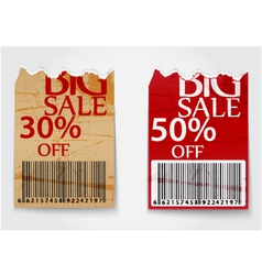 Ripped labels for business design background vector