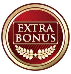 Extra bonus red label vector