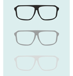 Teacher glasses black and grey on blue background vector