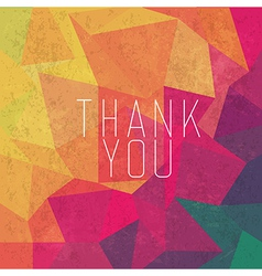 Retro thank you card vector