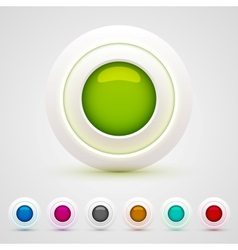 Web buttons set vector
