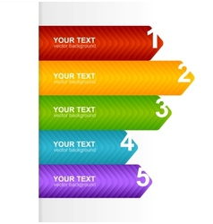 Arrow speech templates for text 1 2 3 4 5 vector