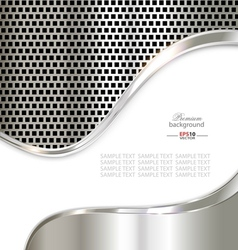Silver metal template background vector