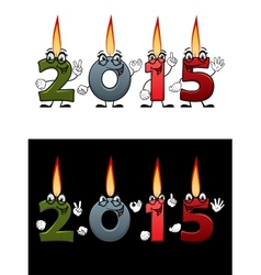 Lighted candle numbers 2015 vector