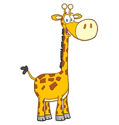 Giraffe cartoon mascot character vector