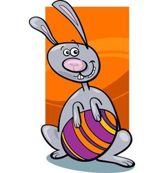 Funny easter bunny cartoon vector