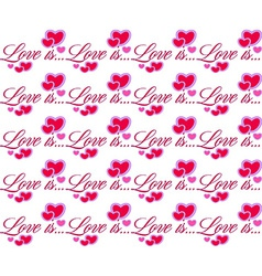 Love is red heart valentines day seamless pattern vector