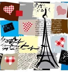 Collage paris vector