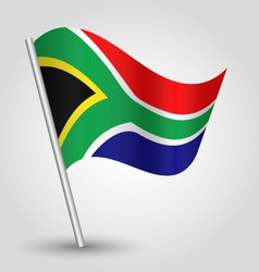 Flag south africa vector