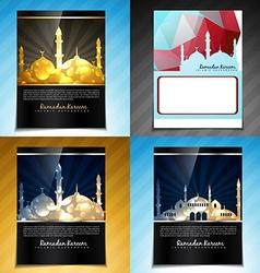 Set of attractive brochure design of eid fes vector