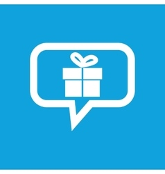Gift box message icon vector