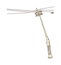 A telephone pole vector