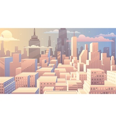 Cityscape sunrise vector