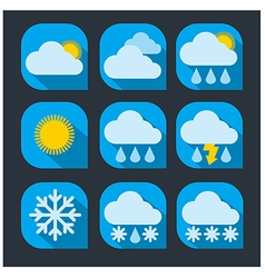 Weather icon set flat vector