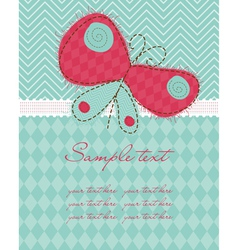 Greeting baby card vector