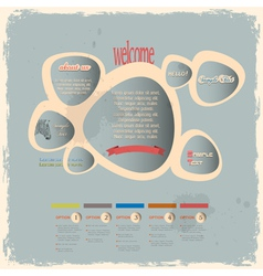 Creative web design bubbles in vintage style vector