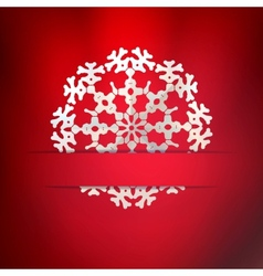 White paper christmas snowflake on a light vector