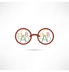 Reading glasses icon vector