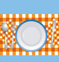 Table setting vector