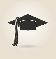 Graduate cap icon vector