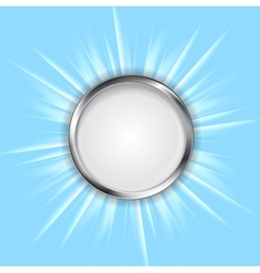 Metal circle and shiny sun vector