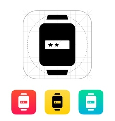Password in smart watch icon vector