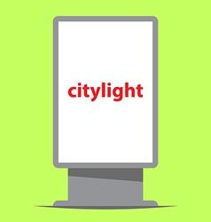 Citylight outdoor advertising vector