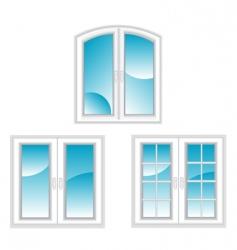 Plastic windows vector