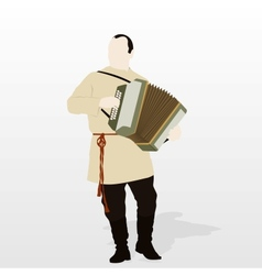 Accordionist vector