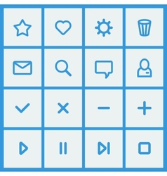 Flat ui design elements - set of basic web icons vector
