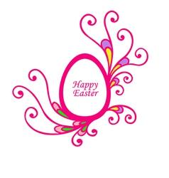 Easter decor vector