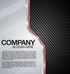 Automotive chrome carbon fiber background vector