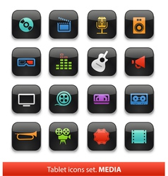 Tablet buttons collection isolate vector
