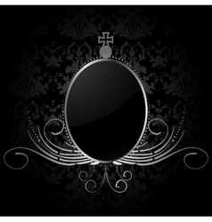 Royal background with silver frame vector