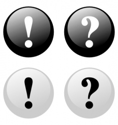 Exclamation question buttons vector