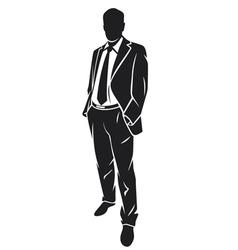 A standing businessman vector