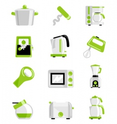 Kitchen object set vector