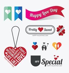 Valentines day love symbol design vector