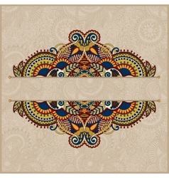 Floral ornamental template in beige colour vector