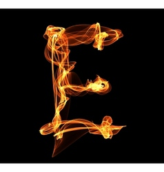 Letter in fire vector