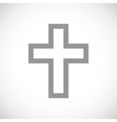 Protestant cross black icon vector